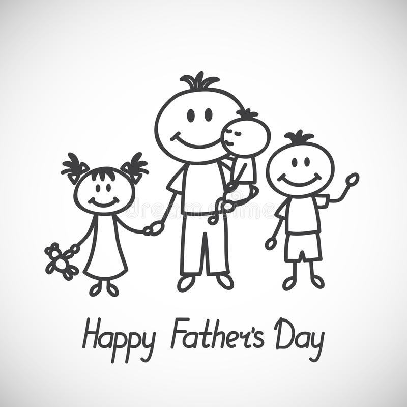 Dia de pais ilustração stock