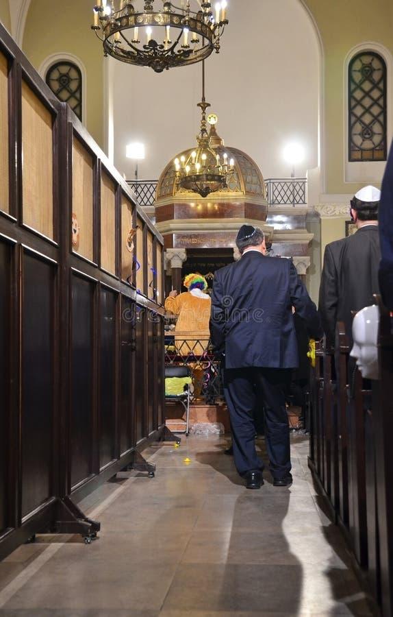 Dia de Purim em Varsóvia imagens de stock