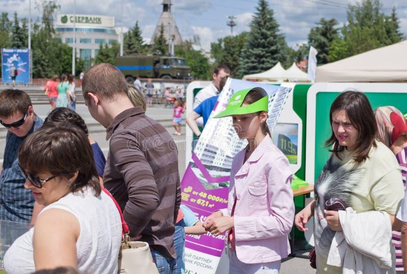 Dia de Rússia em Tula imagem de stock