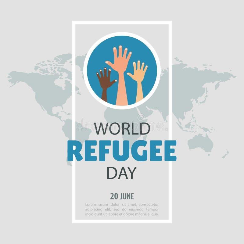 Dia de refugiado de mundo ilustração stock