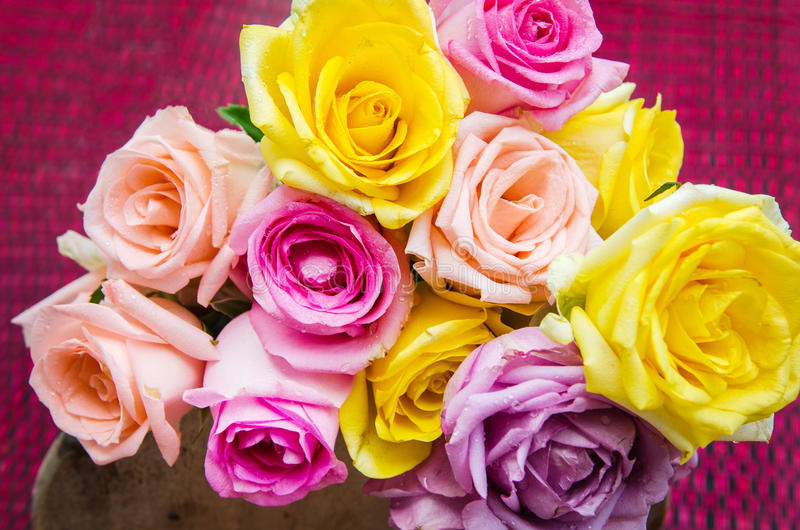Dia de Rosa & de Valentim fotos de stock royalty free