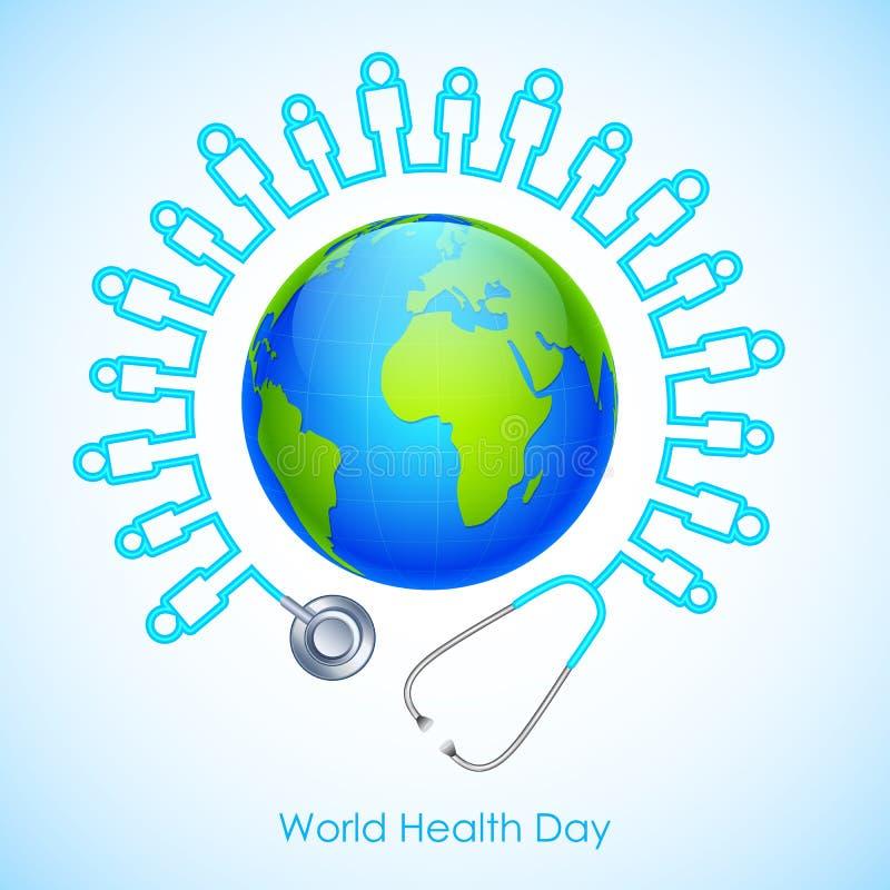 Dia de saúde de mundo ilustração royalty free