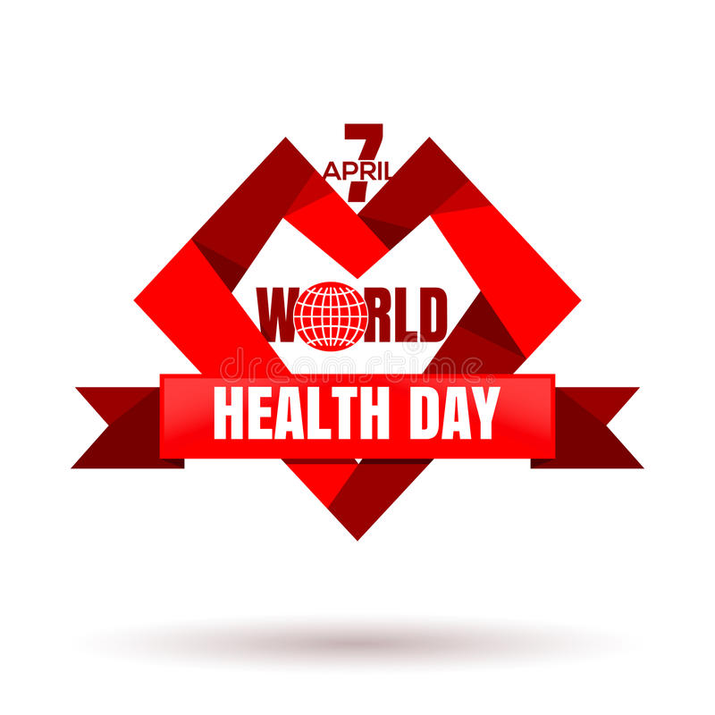 Dia de saúde de mundo 7 de abril Projeto do dia da saúde ilustração stock