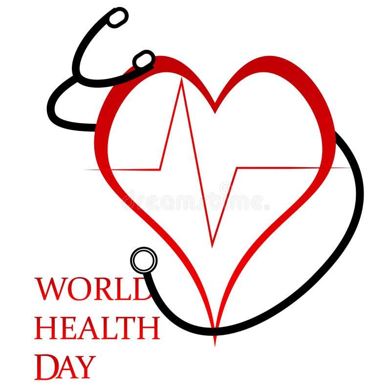 Dia de saúde de mundo ilustração stock