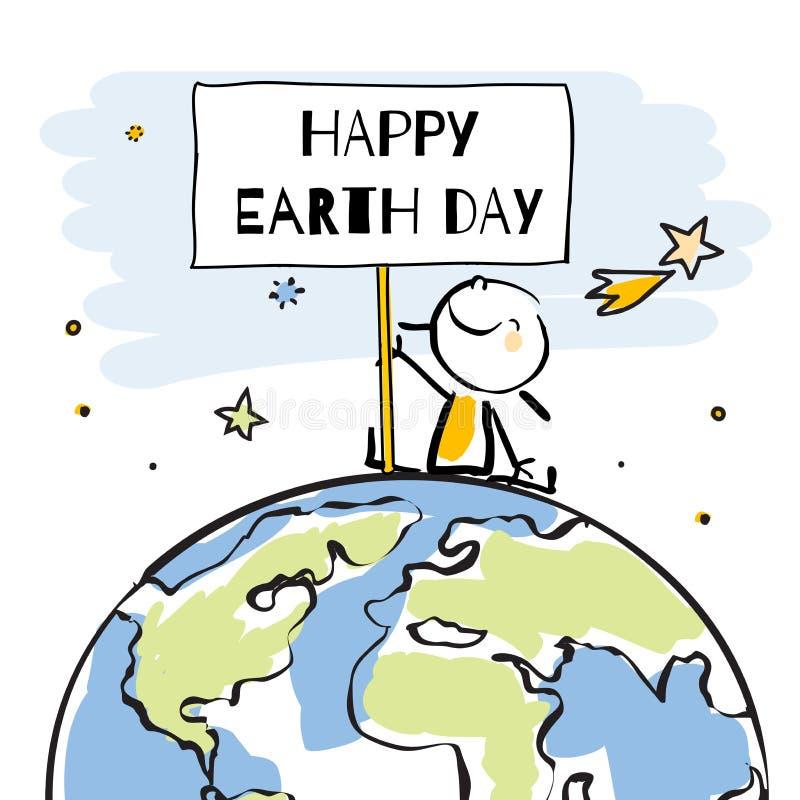 Dia de terra ilustração royalty free