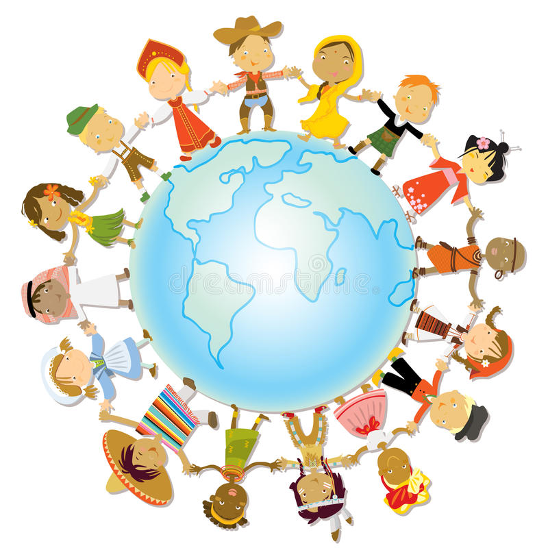 Dia de terra das crianças ilustração royalty free
