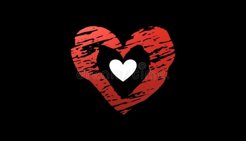 Dia de Valentim, ícone do coração, sinal, ilustração 3D imagens de stock royalty free