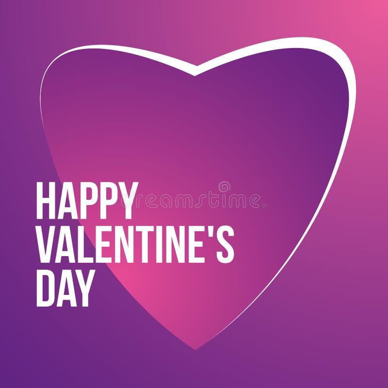 Dia de Valentim abstrato do símbolo do amor de Purple Heart ilustração royalty free
