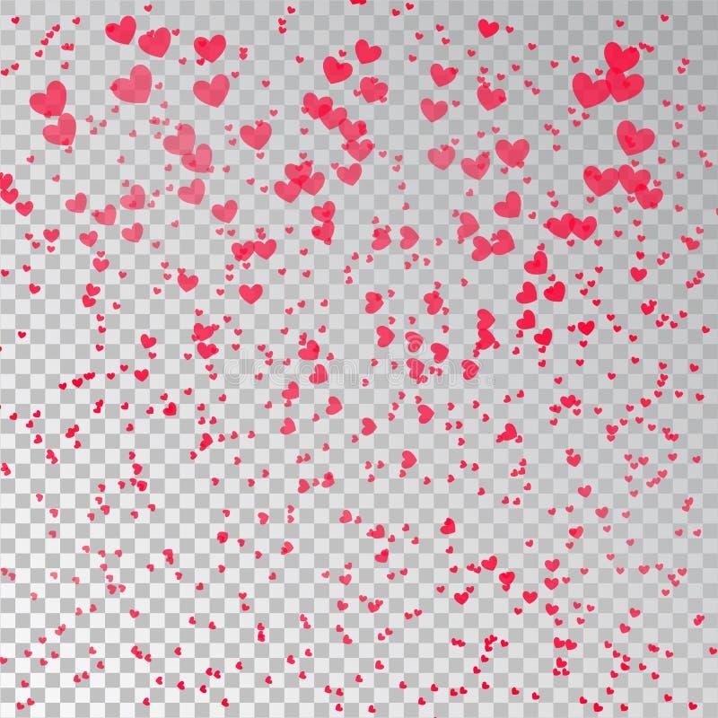 Dia de Valentim cor-de-rosa do coração do amor dos confetes ilustração stock