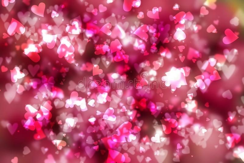 Dia de Valentim do fundo dos corações imagens de stock