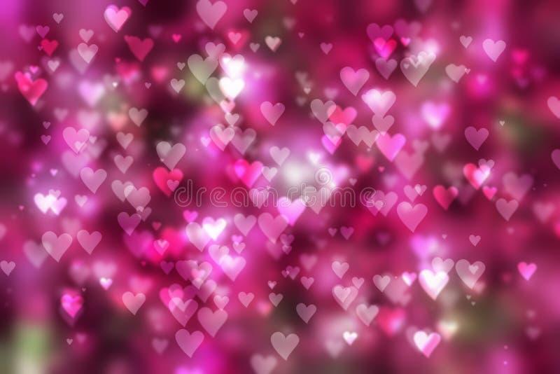 Dia de Valentim do fundo dos corações fotos de stock royalty free