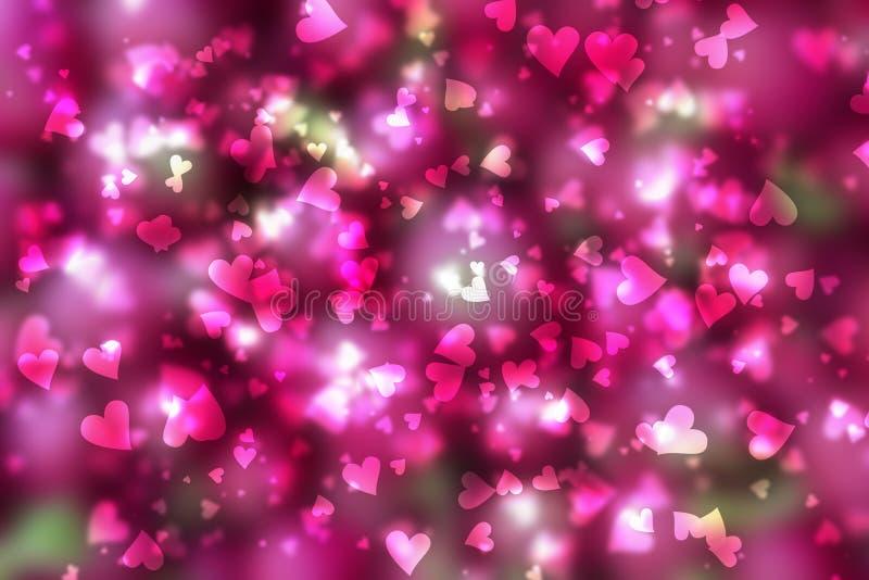 Dia de Valentim do fundo dos corações fotografia de stock royalty free