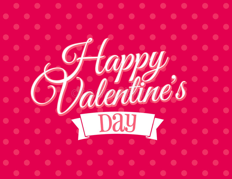 Dia de Valentim feliz ilustração stock