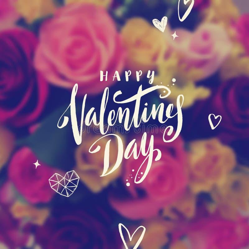 Dia de Valentim feliz - cartão ilustração do vetor