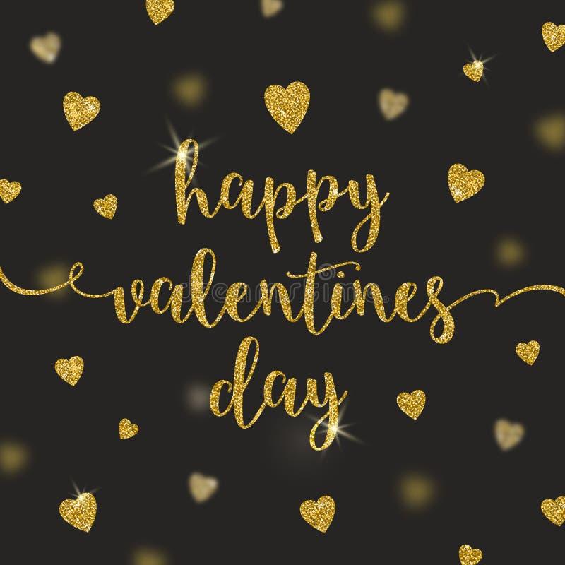 Dia de Valentim feliz - cartão ilustração stock