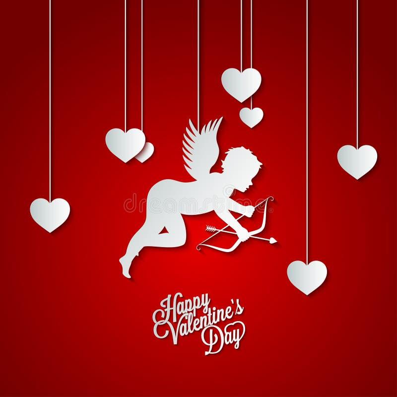 Dia de Valentim feliz do quadro do feriado ilustração stock