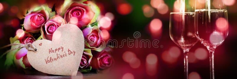 Dia de Valentim feliz para um cartão fotos de stock