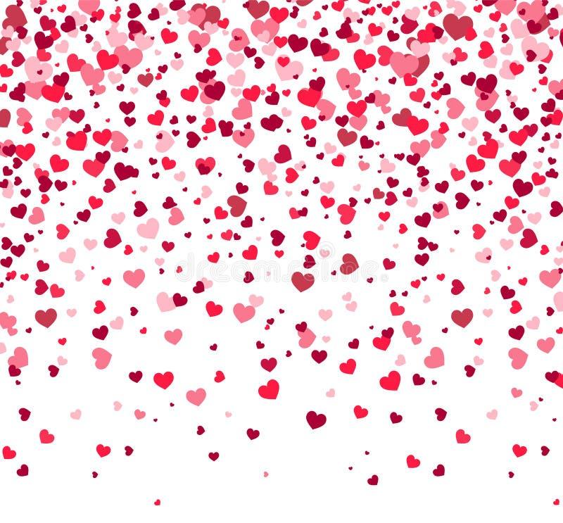 Dia de Valentim - vector o cartão com corações no fundo branco
