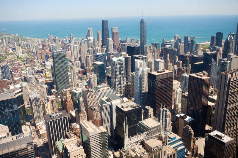Dia de verão em Chicago imagem de stock royalty free