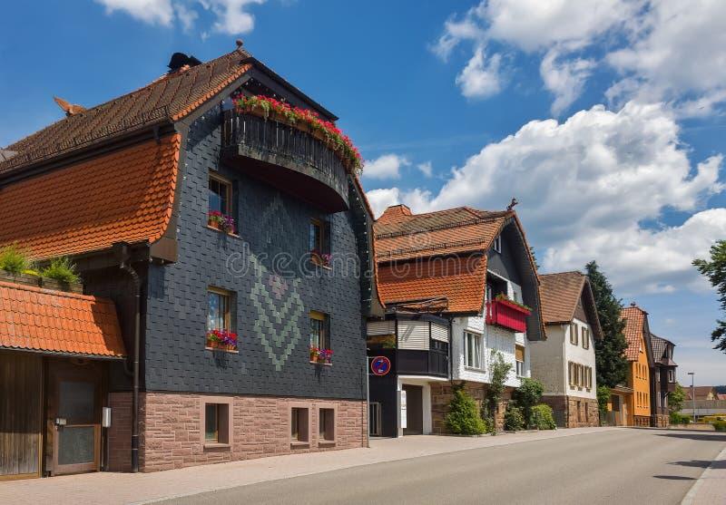 Dia de verão na cidade alemão de Freudenstadt ForestGermany preto fotos de stock royalty free