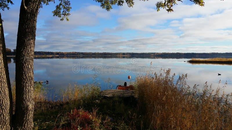 Dia de verão pelo lago fotografia de stock