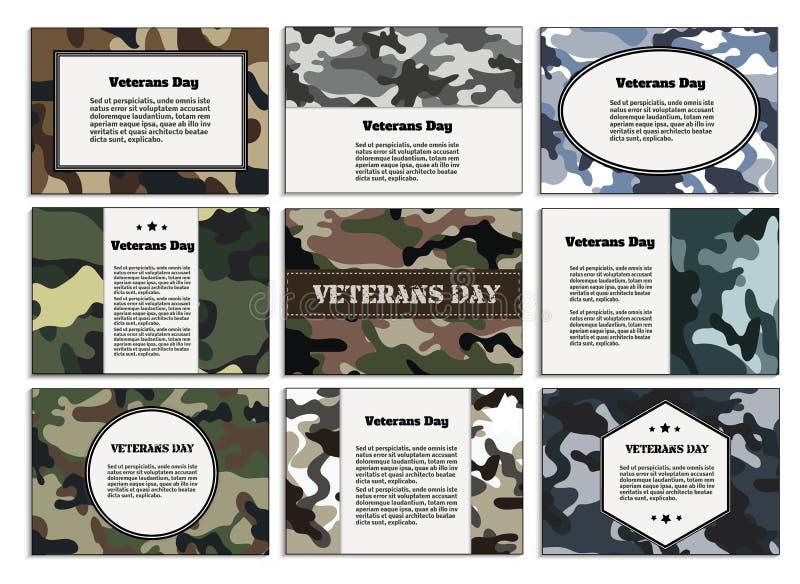 Dia de veteranos Cartaz, folheto ilustração do vetor