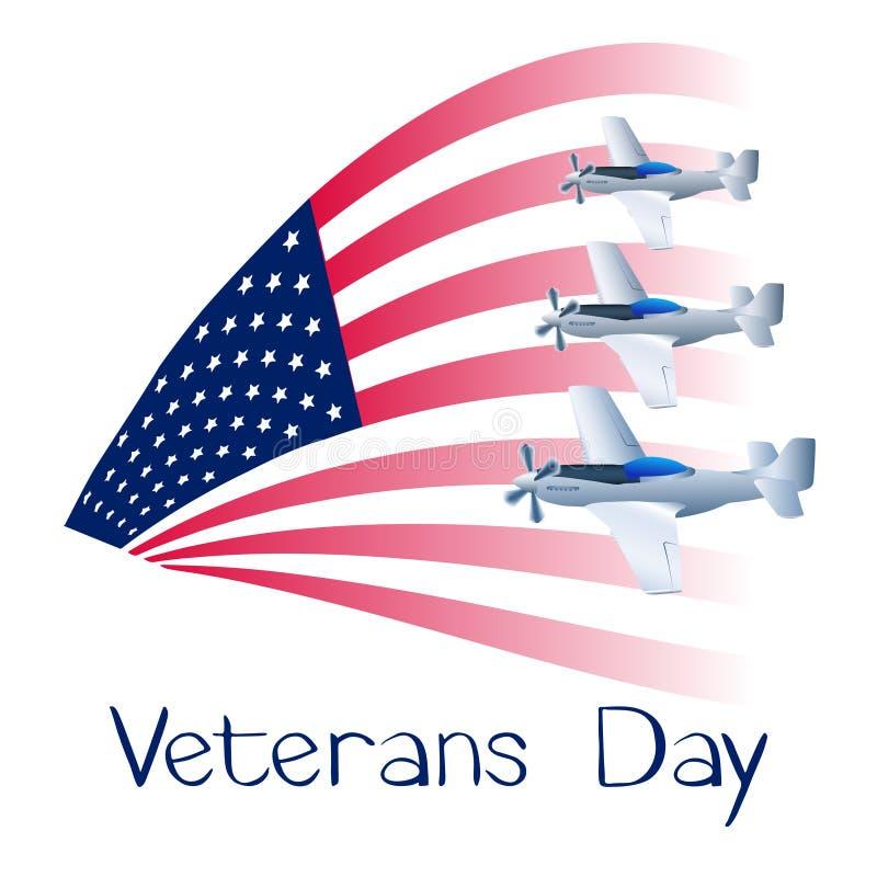 Dia de veteranos ilustração do vetor