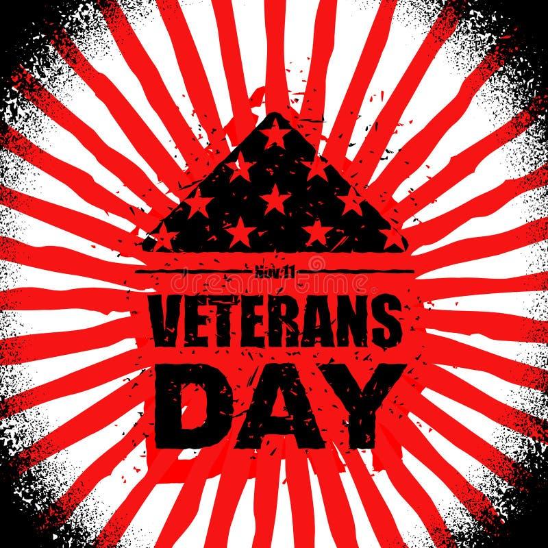 Dia de veteranos nos EUA Embandeire América dobrada no símbolo do triângulo de m ilustração royalty free