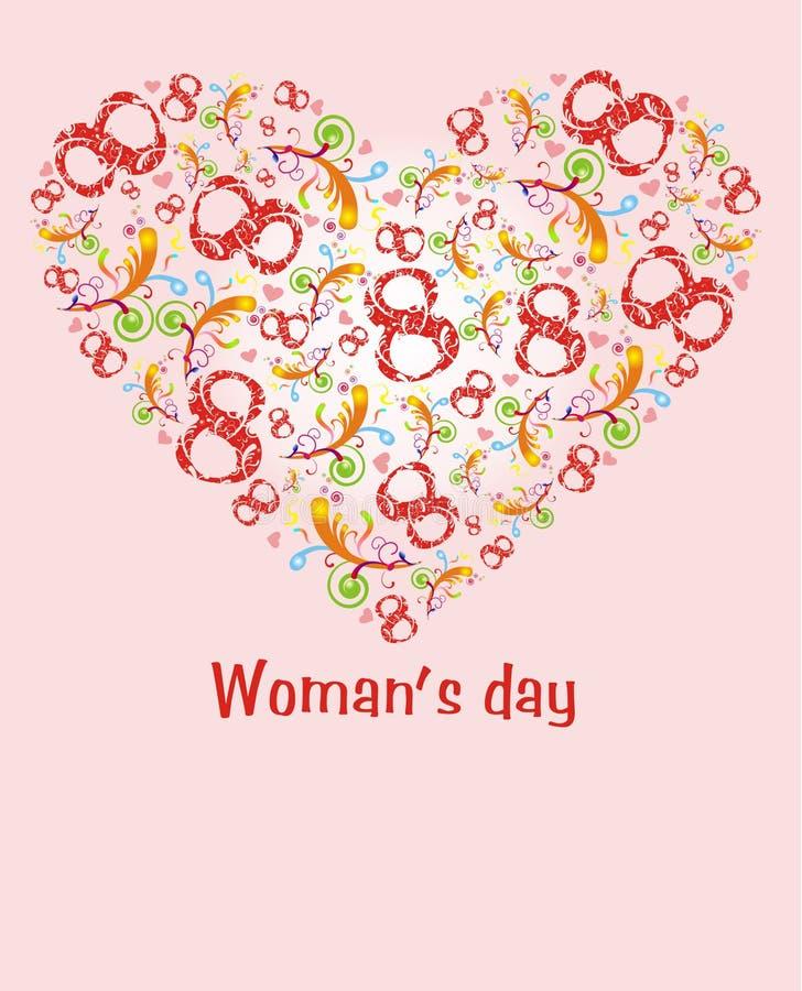 Download Dia de Womans ilustração do vetor. Ilustração de numeral - 12805173