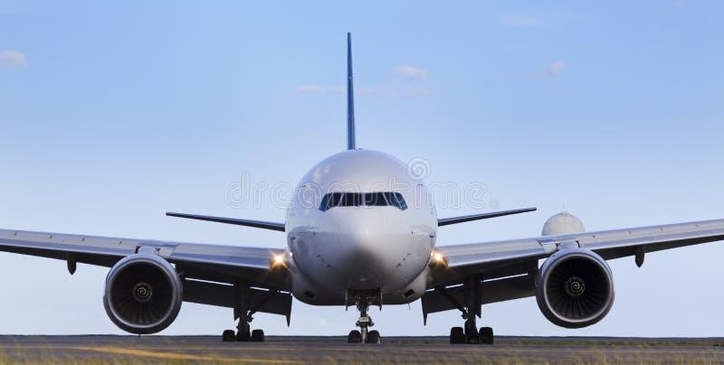 Dia dianteiro do avião fotografia de stock