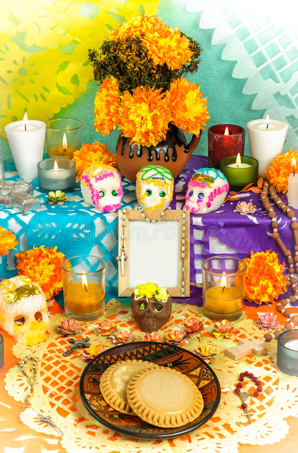 Dia do altar inoperante (Dia de Muertos) fotos de stock royalty free
