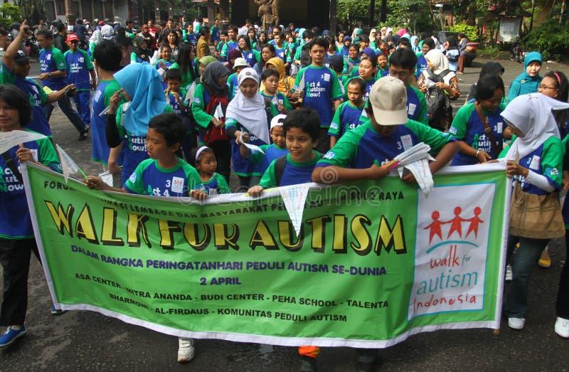 Dia do autismo do mundo em Indonésia foto de stock