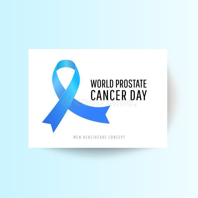 Dia do câncer da próstata do mundo ilustração royalty free