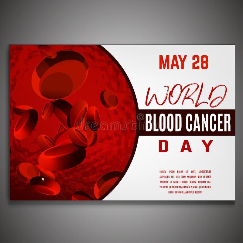 Dia do câncer de sangue ilustração royalty free