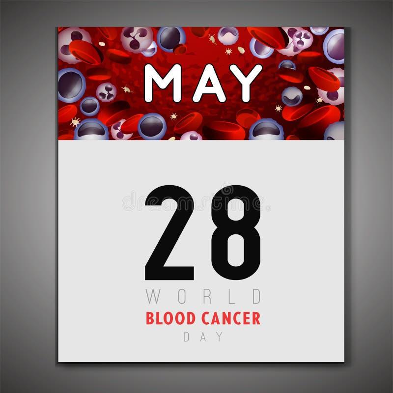 Dia do câncer de sangue ilustração do vetor