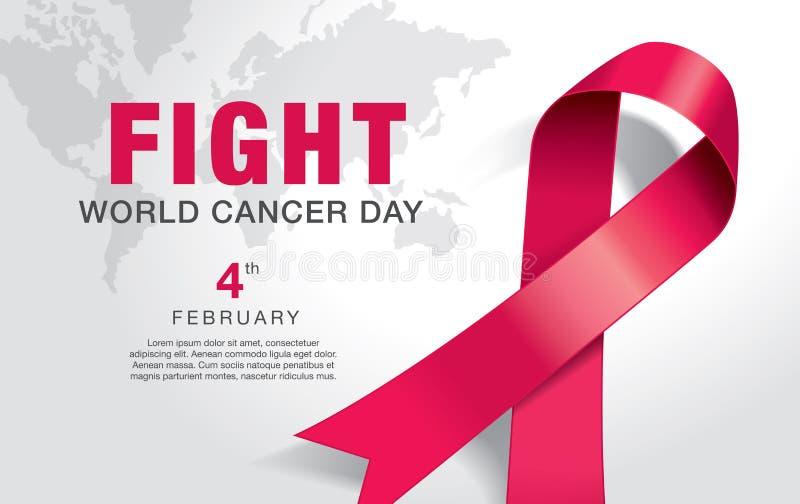 Dia do câncer do mundo ilustração do vetor