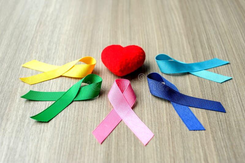 Dia do câncer do mundo fotos de stock