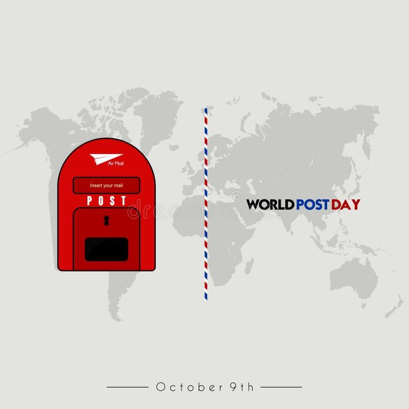 Dia do cargo do mundo, caixa do cargo ilustração do vetor