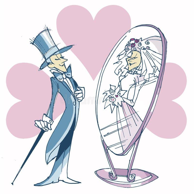Dia do casamento ilustração stock