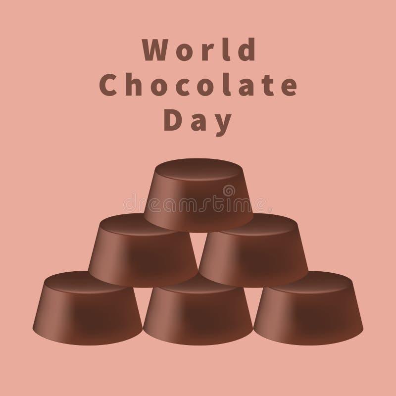 Dia do chocolate do mundo ilustração stock
