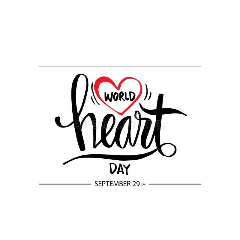 Dia do coração do mundo ilustração royalty free