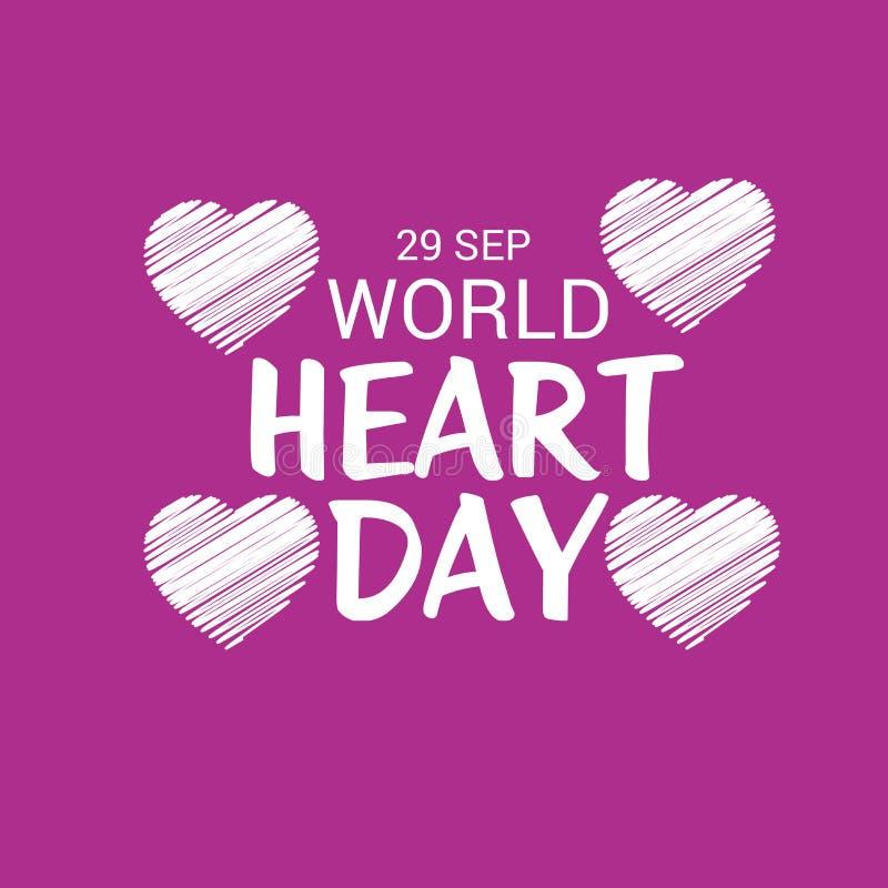 Dia do coração do mundo ilustração stock