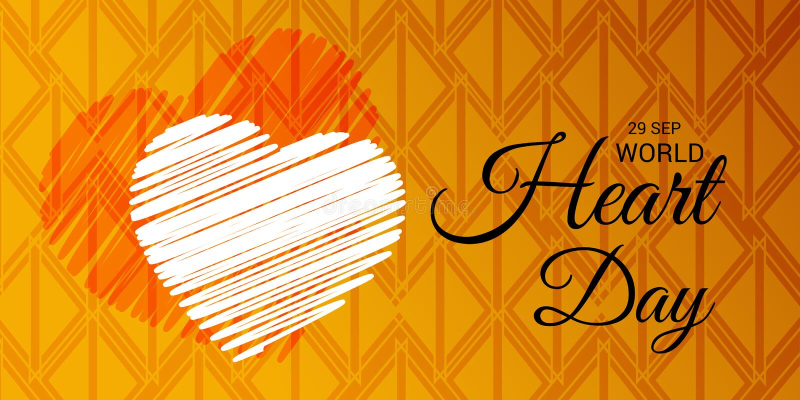 Dia do coração do mundo ilustração do vetor