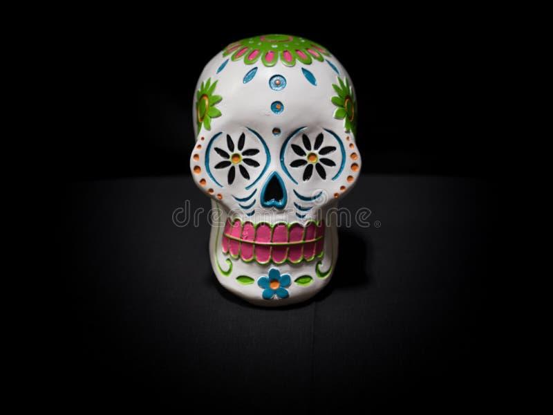 Dia do ` de Sugar Skulls dos mortos AKA todo o ` do dia de almas foto de stock