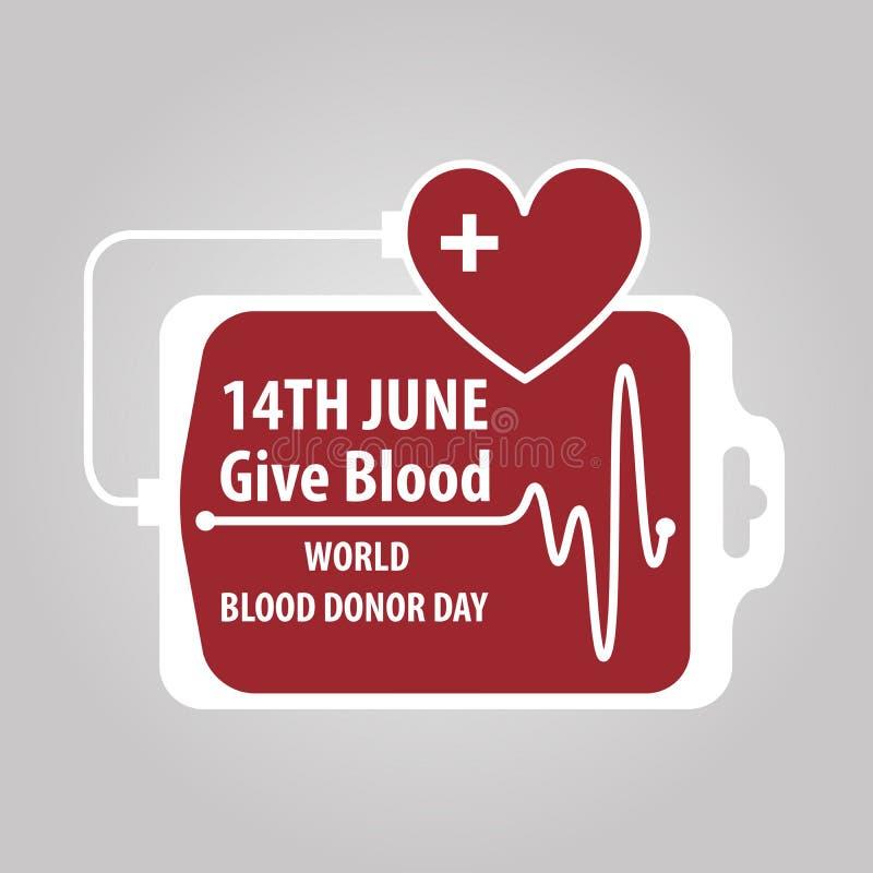 Dia do doador de sangue do mundo ilustração do vetor