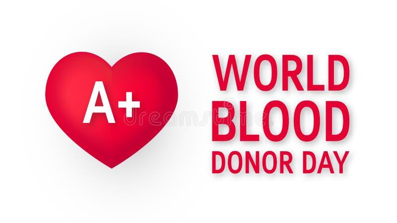 Dia do doador de sangue do mundo, vetor no estilo liso ilustração royalty free