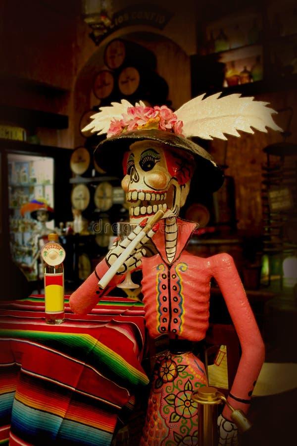 Dia do esqueleto da morte fotos de stock royalty free