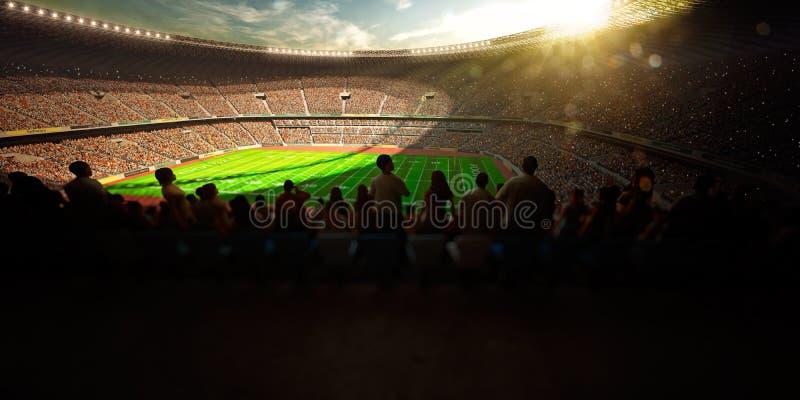 Dia do estádio da arena do futebol fotos de stock