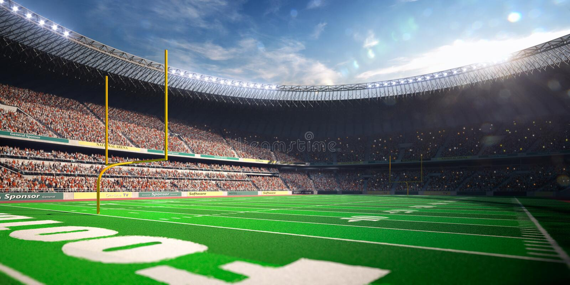 Dia do estádio da arena do futebol imagem de stock