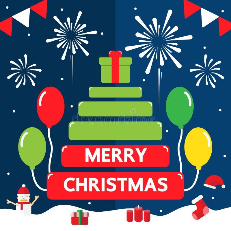 Dia do Feliz Natal ilustração royalty free